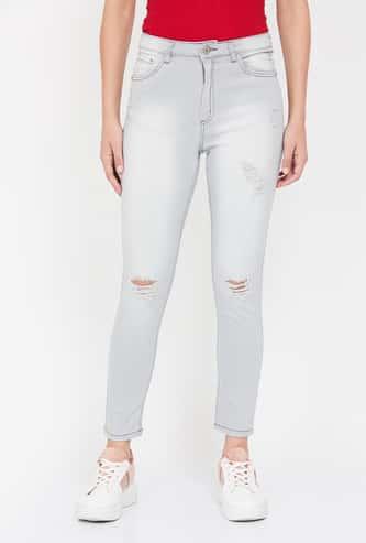 GINGER Distressed Slim Fit Jeans