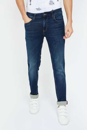 INDIAN TERRAIN Stonewashed Slim Fit Jeans
