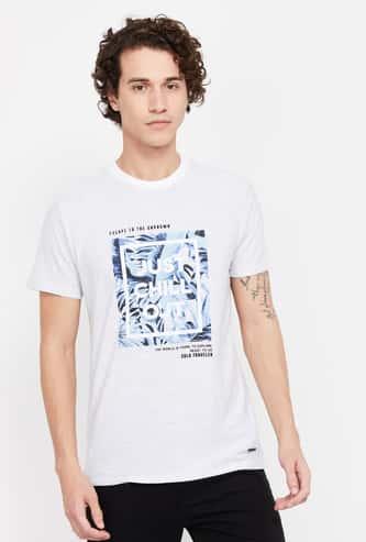 BOSSINI Men Graphic Print Short Sleeves Regular Fit T-shirt