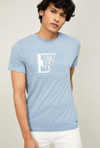 BOSSINI Men High-Density Print Regular Fit T-shirt