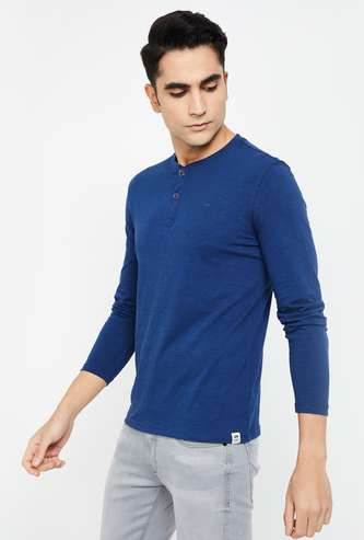 LEE Slub Slim Fit Henley T-shirt