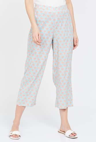 GLOBAL DESI Printed Elasticated Straight Pants