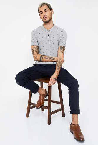LEE Printed Regular Fit Polo T-shirt