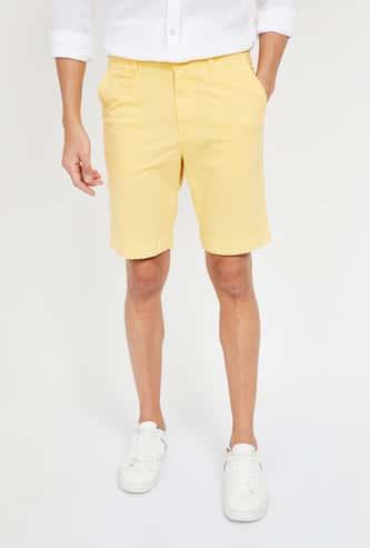 FAHRENHEIT Solid Regular Fit Casual Shorts