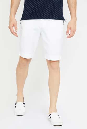 FAHRENHEIT Solid Regular Fit Shorts