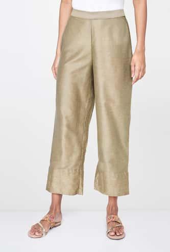 GLOBAL DESI Textured Flared Pants