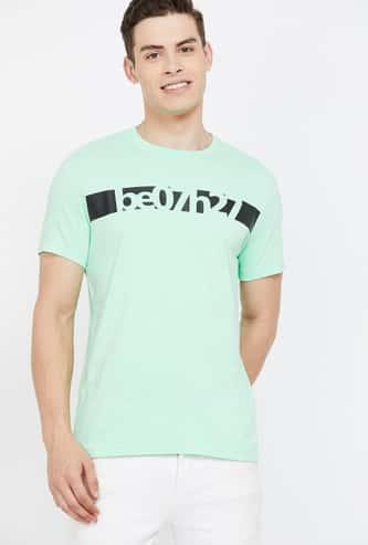 BEING HUMAN Men Printed Slim Fit Crew Neck T-shirt