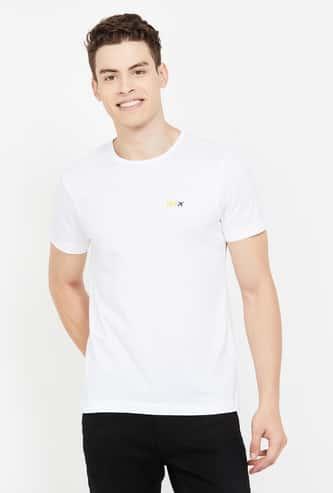 ARROW NEW YORK Solid Short Sleeves Regular Fit T-shirt