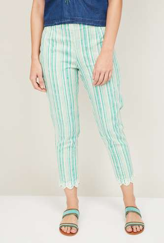 W Women Striped Straight Pants