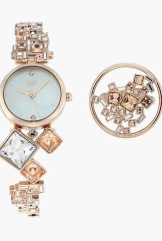 TITAN Women Embellished Analog Watch with Ring- NN95106WM01F
