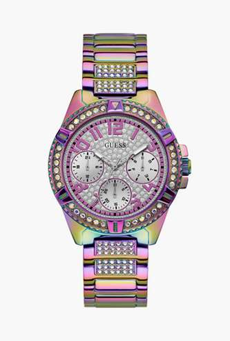 GUESS Women Embellished Analog Watch- GW0044L1