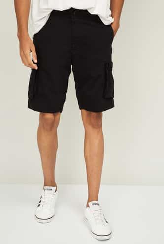 FAHRENHEIT Men Solid Regular Fit Casual Shorts