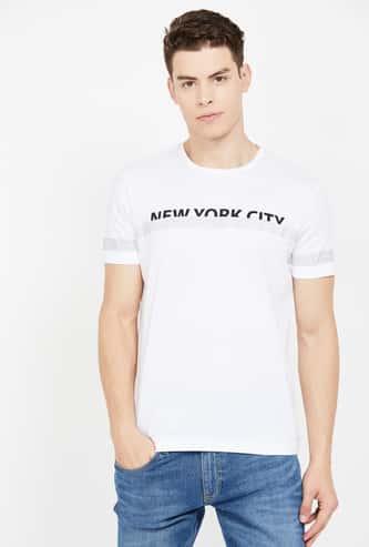 ARROW NEW YORK Typographic Print Short Sleeves Regular Fit T-shirt