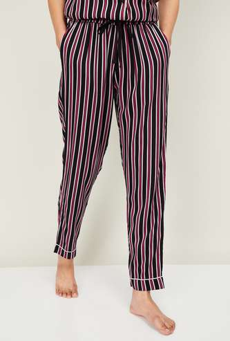 GINGER Women Striped Elasticated Pyjamas