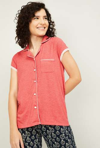 GINGER Women Solid Lounge Top