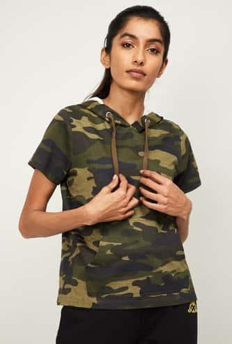 KAPPA Women Printed Hooded Sweatshirt