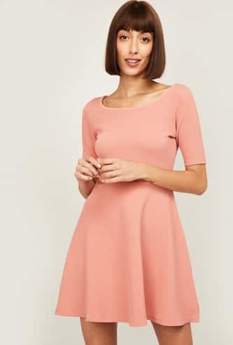 GINGER Women Solid A-Line Mini Dress