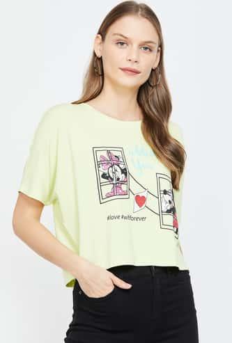 GINGER Women's Printed Dolman Sleeves Top