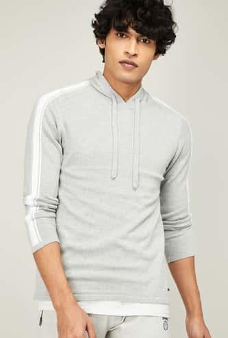 BOSSINI Men Solid Hooded Sweatshirt