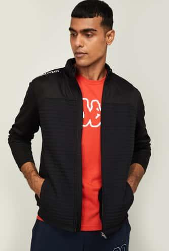 KAPPA Men Solid Hooded Jacket