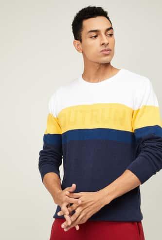 KAPPA Men Colorblocked Crew Neck Sweater