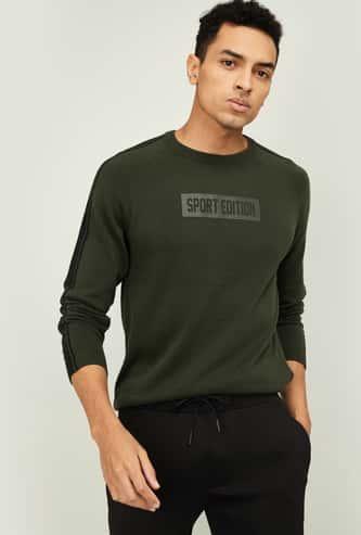 KAPPA Men Printed Crew Neck Sweater