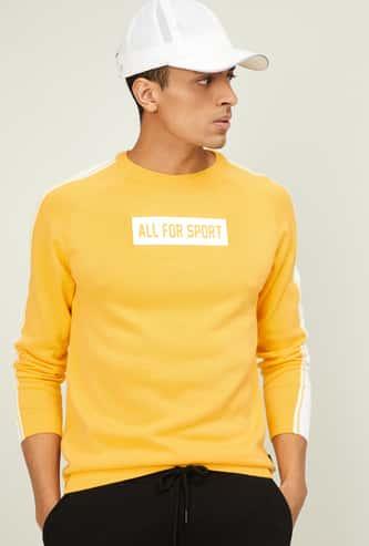 KAPPA Men Textured Full Sleeves Sweater