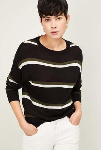 FAME FOREVER Women Textured Full Sleeves Knit Top