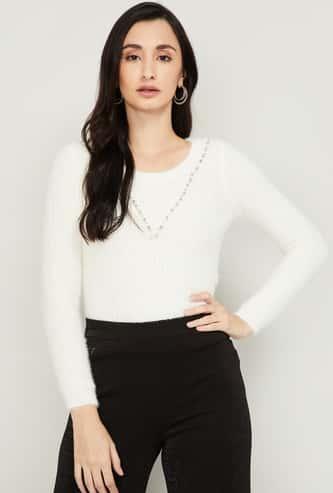 CODE Women Embellished Sweater