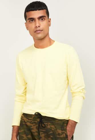 FORCA Men Solid Regular Fit Full Sleeves T-shirt