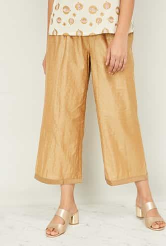 MELANGE Women Printed Elasticated Straight Pants