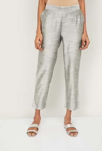 AURELIA Women Solid Ethnic Straight Pants