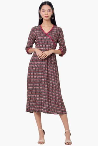 INDYA Women Printed Midi Dress