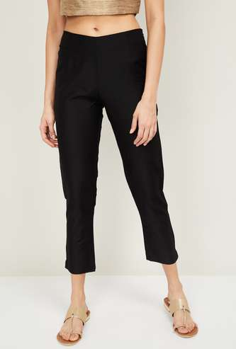 W Women Cropped Straight Trousers