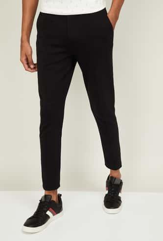 PROLINE Men Textured Slim Fit Track Pants