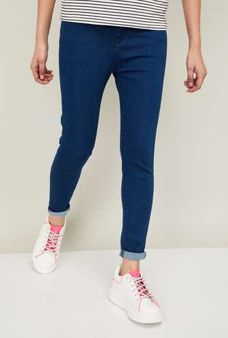 FAME FOREVER Women Solid High-Rise Skinny Jeans