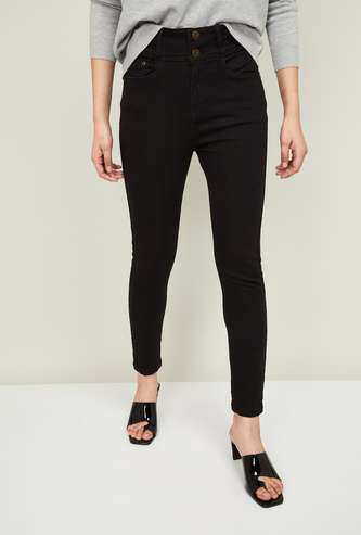 FAME FOREVER Women Solid Skinny Fit Jeans