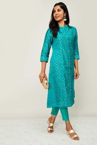 MELANGE Women Striped Kurta with Solid Salwar