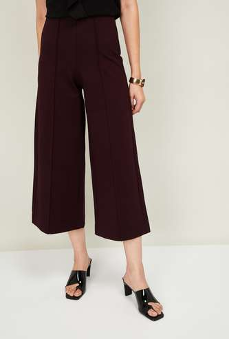 CODE Women Solid Culottes with Elasticated Waist