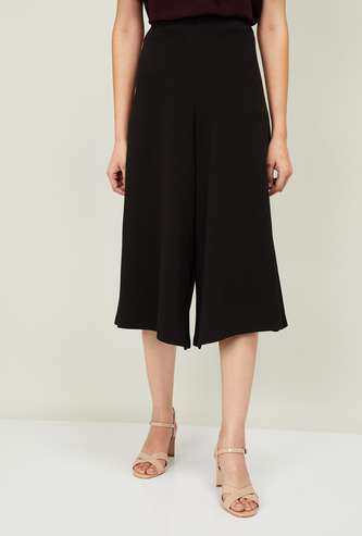 CODE Women Solid Culottes with Elasticated Waistband
