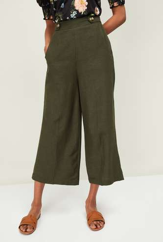CODE Women Solid Culottes