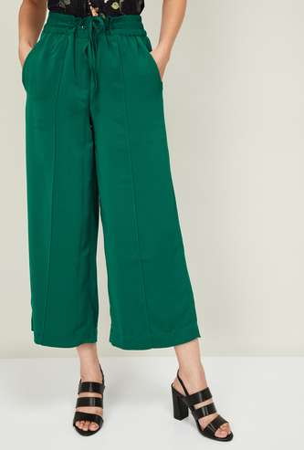 CODE Women Solid Culottes with Insert Pockets