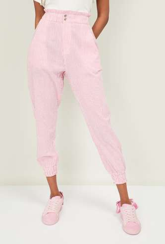 GINGER Women Striped Trousers