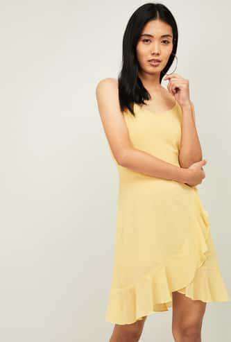 GINGER Women Solid Sleeveless Dress