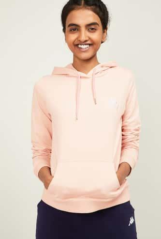 KAPPA Women Solid Hooded Sweatshirt