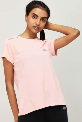 KAPPA Women Solid Short Sleeves T-shirt