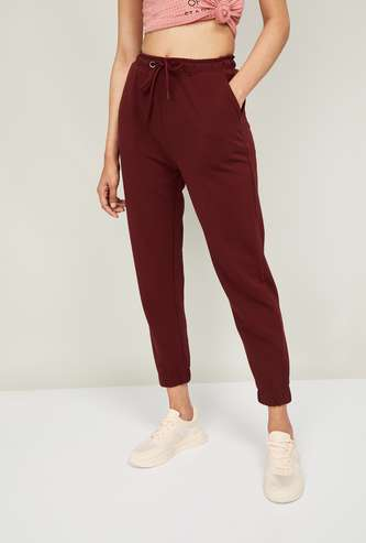 GINGER Women Solid Elasticated Pants