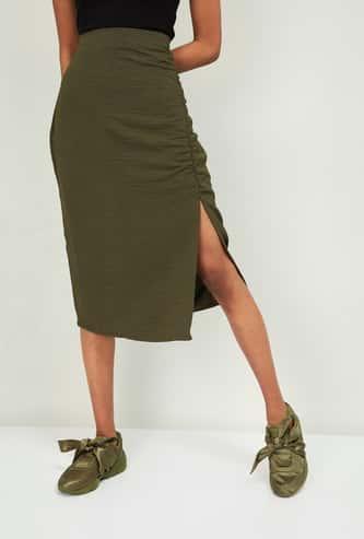 GINGER Women Textured Skirt