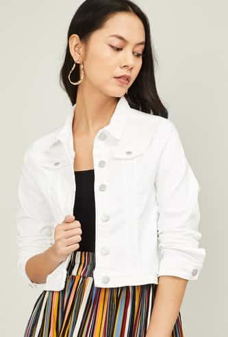 KRAUS Women Solid Denim Jacket