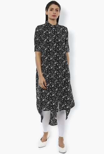 VAN HEUSEN Women Floral Print High-Low Shirt Tunic